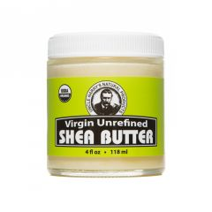 Virgin Unrefined Shea Butter (4 fl oz glass jar)