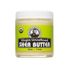 Virgin Unrefined Shea Butter (4 fl oz glass jar)