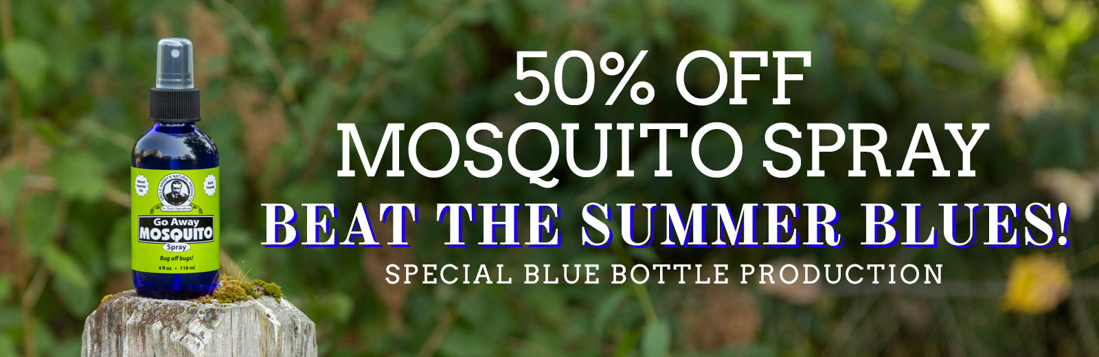 Go Away Mosquito Spray - 50% Off