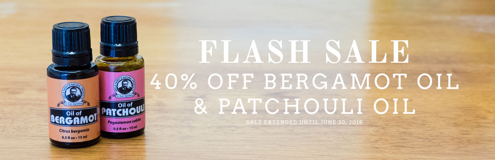 Bergamot & Patchouli Sale - 40% off - Extended!