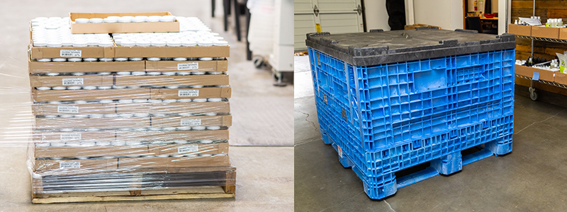 Before and After - Product Transfer Bin